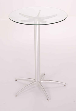 Round Glass Bar Pedestal Table - 36