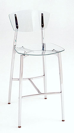 Recurve Stool All Acrylic