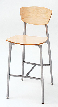 Recurve Stool All Wood