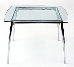 Arc Glass Breakfast Table