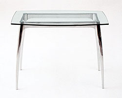 Arc Glass End Serving Table