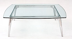 Arc Glass Square Coffee Table