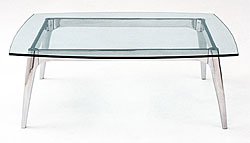 Arc Glass Rectangular Coffee Table