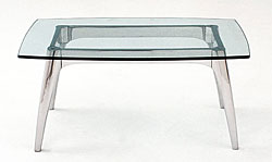 Arc Glass End Table