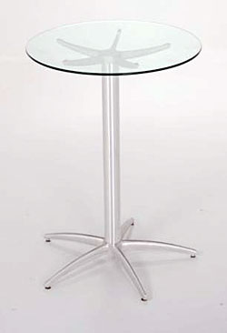 5 Star Pedestal Glass Bar Table