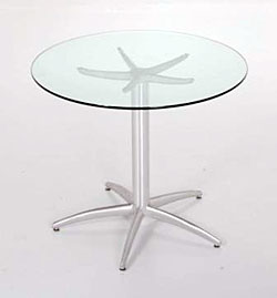 5 Star Pedestal Glass Dining Table