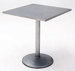 Pedestal Metal Dining Table