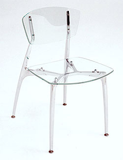 Recurve Chair All Acrylic