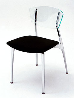 Arc Chair Upholstered Seat/Acrylic Back
